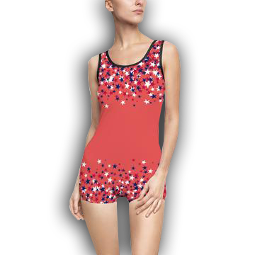 PATRIOTIC STARS - Women's Vintage Swimsuit
