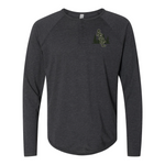ASCC INTERLOCKED  Triblend Long Sleeve Henley - American Style Clothing Company