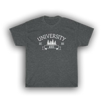 UNIVERSITY TREES - Heavy Cotton Tee This heavy cotton tee has the classic cotton look and feel. Casual elegance will make it an instant favorite in every man's wardrobe.