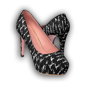 HANDWRITING - Women's Platform Heels