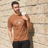 This heavy cotton tee has the classic cotton look and feel. Casual elegance will make it an instant favorite in every man's wardrobe. This t-shirt will draw eyes on you.