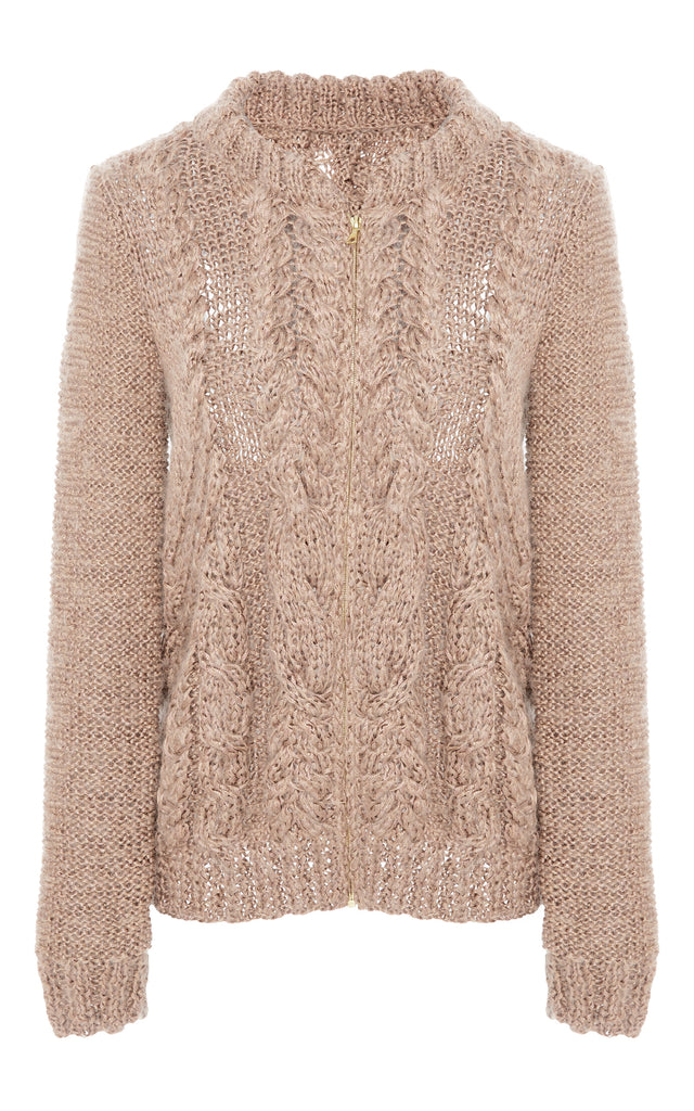 Dylan Zip-Up Cardigan