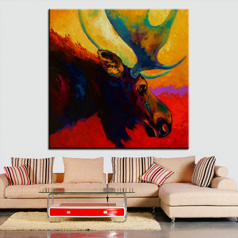 Large size Printing Oil Painting alaskan spirit moose Wall painting