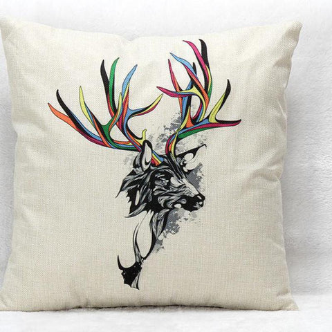 Moose Linen Furnishing Sofa Office Decorative Throw Pillows Decor Pillow