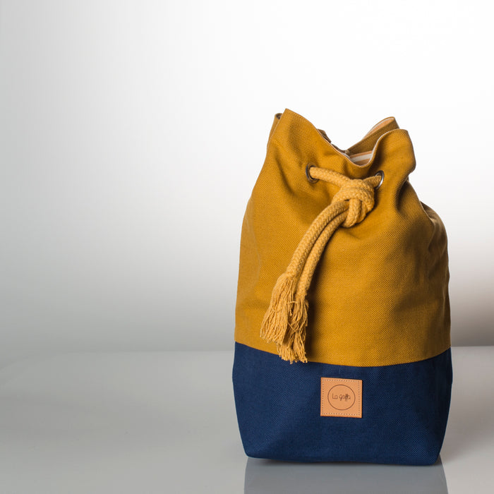 Color Block - Blue+Mustard - La goffa