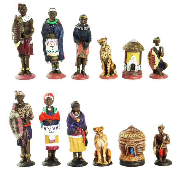 zulu & ndebele chess set