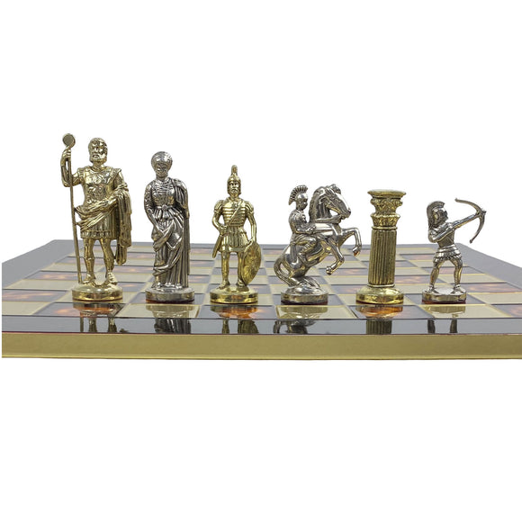 greek archers - gold & silver, large (brown & gold board)