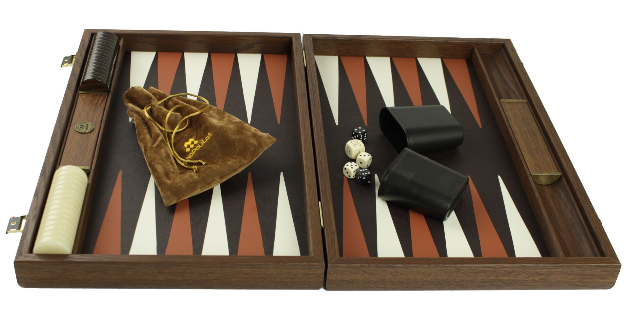 ultra luxury leather backgammon: ostrich (48cm) – House of Chess