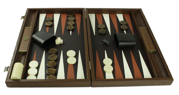 ostrich leather backgammon / side racks (48cm)