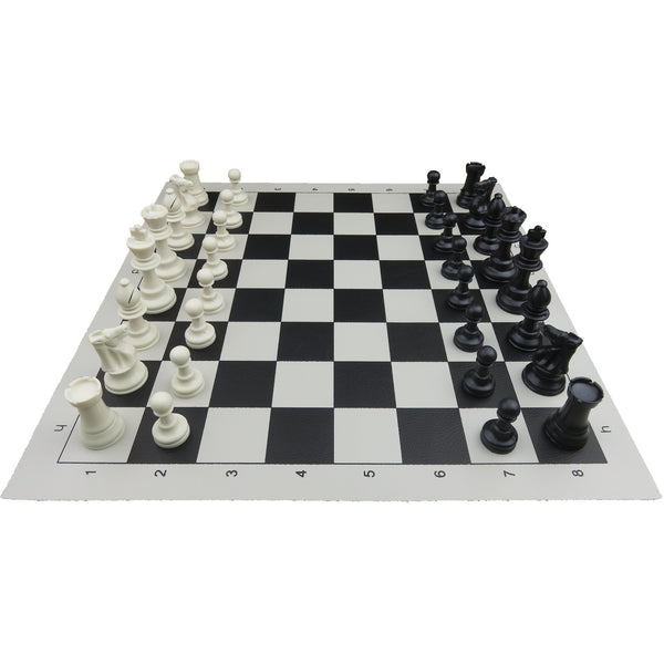 basic vinyl chess set - medium (black)