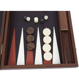 crocodile leather backgammon / side racks (48cm)