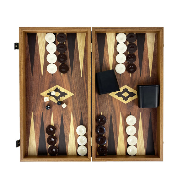 walnut replica backgammon (48cm)