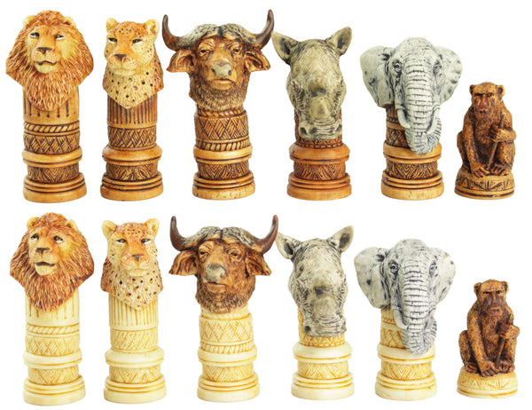 big 5 animal chess set - large