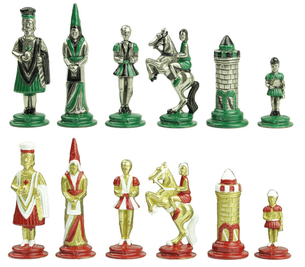 camelot metal chess set