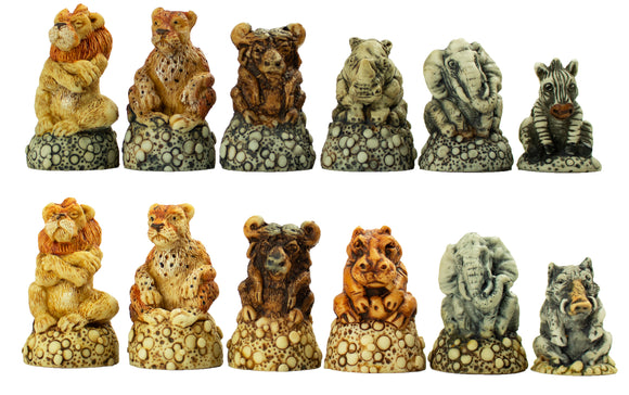 fat 5 and friends chess set - medium