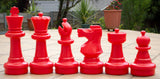 red and black/white 64cm large garden chess set