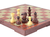 magnetic chess travel sets in wooden colours