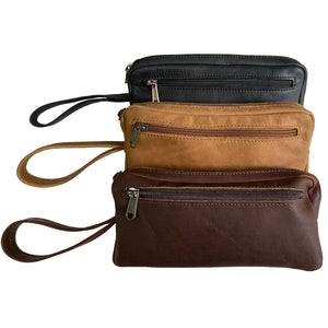 men's pouch with carry handle