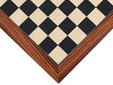 rosewood / maple / black deluxe wooden chessboard (xx large)