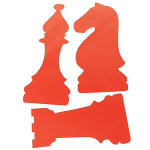chess piece stickers - large rook, knight, bishop
