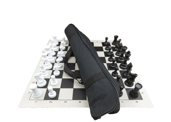 tournament chess set with club bag