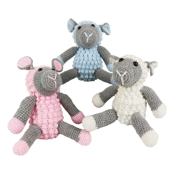 crochet soft toys: sheep