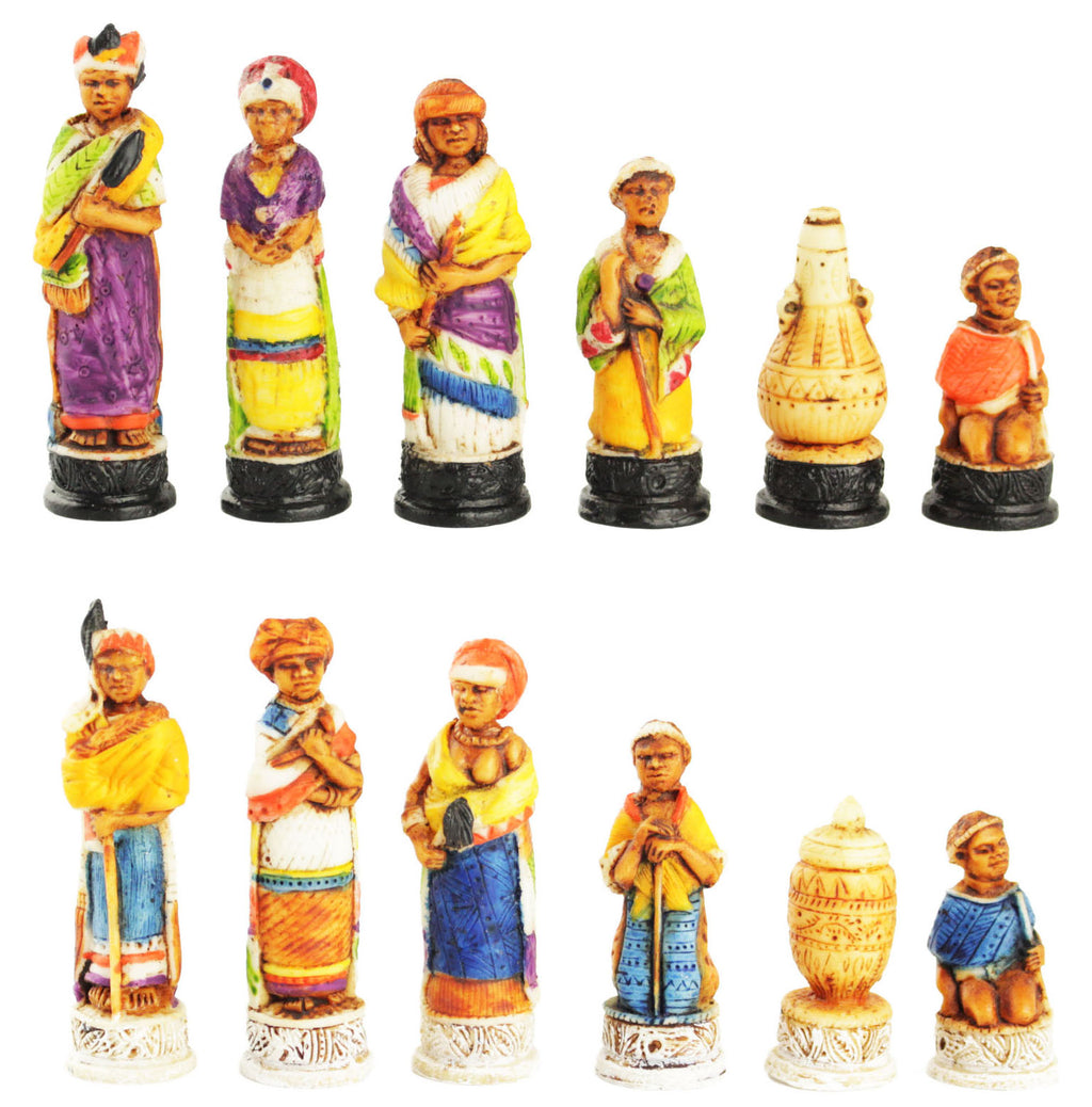 xhosa & zulu chess set