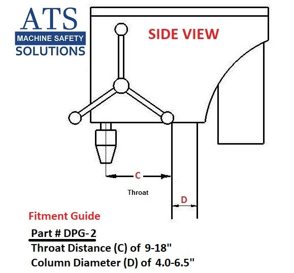 ATS Drill Press Safety Guard DPG-2 fitment guide