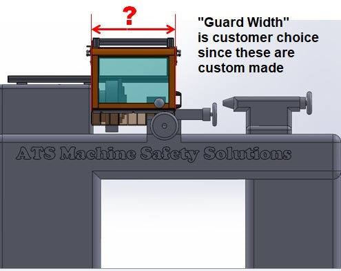 Sliding Lathe Guard - Floor Mount