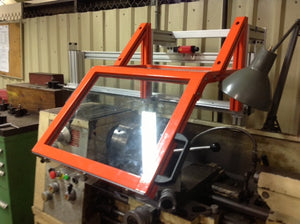 Lathe Safety Guard - ATS Sliding Floor Mount
