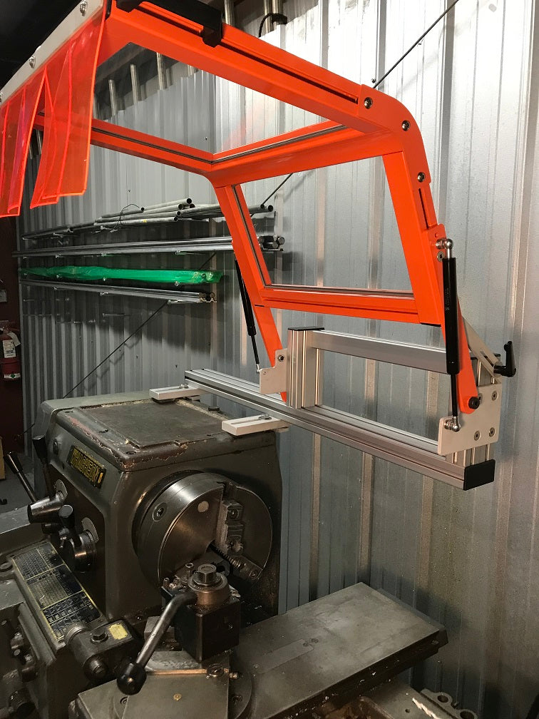 Hinged Lathe Safety Guard Machine Mount Ats Machine Safety Solutions