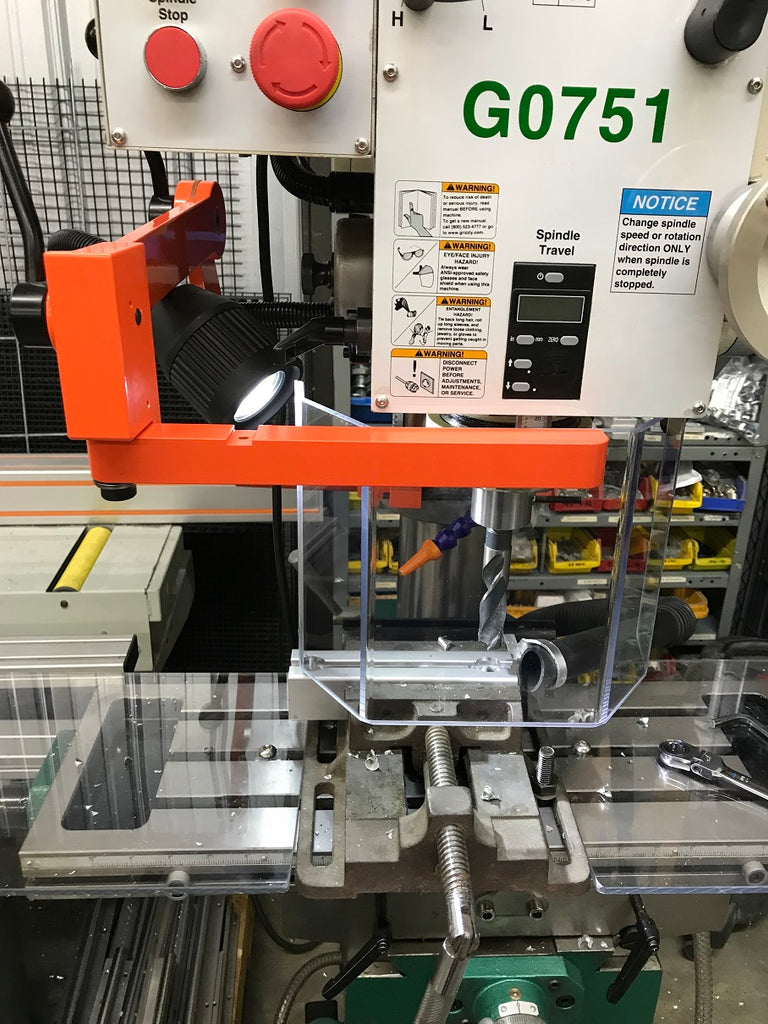 """Drill Press Guard >> Drill Press Guard (Up to 18"""" Throat) – ATS Machine Safety Solutions"""