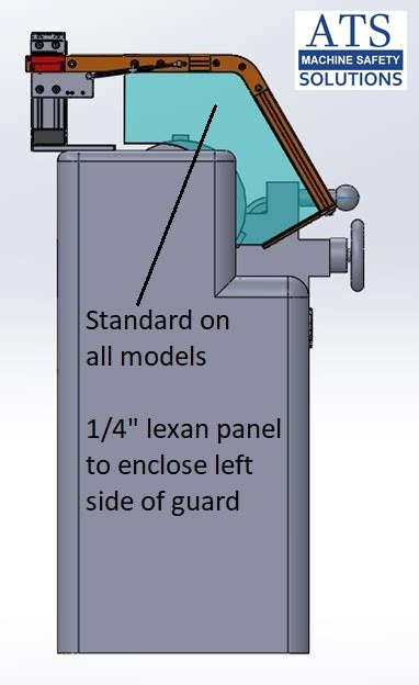 Hinged Lathe Safety Guard - Machine Mount