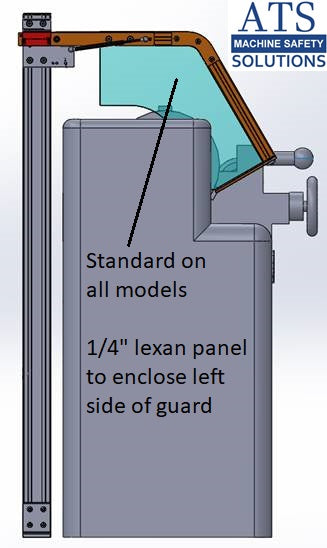 Hinged Lathe Safety Guard - Floor Mount
