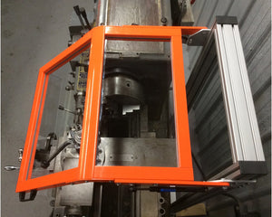 Lathe Safety Guard - Hinged Floor Mount