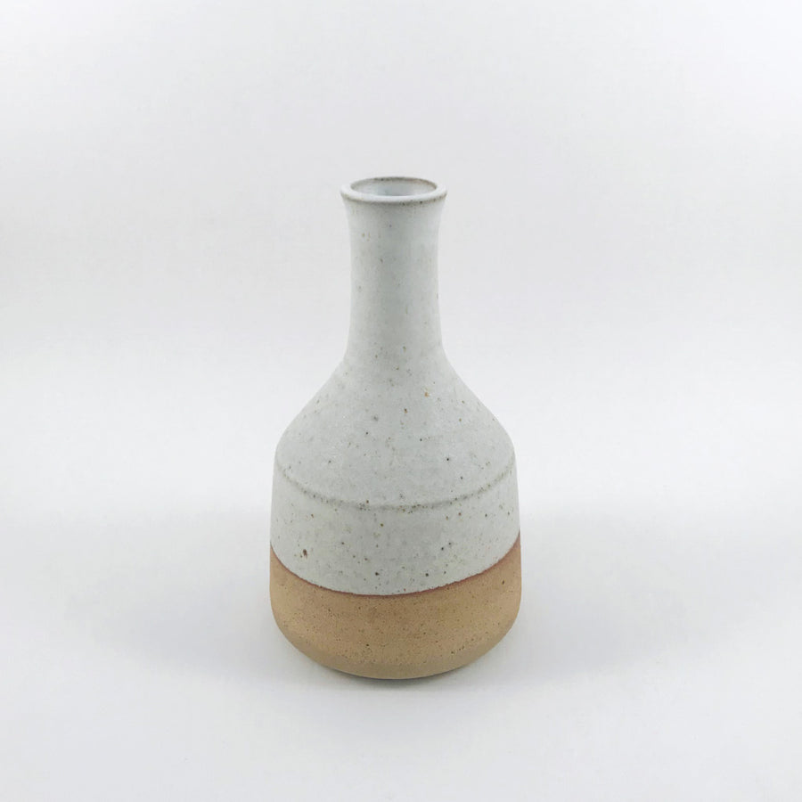 JG Pottery - Vase with Neck - White