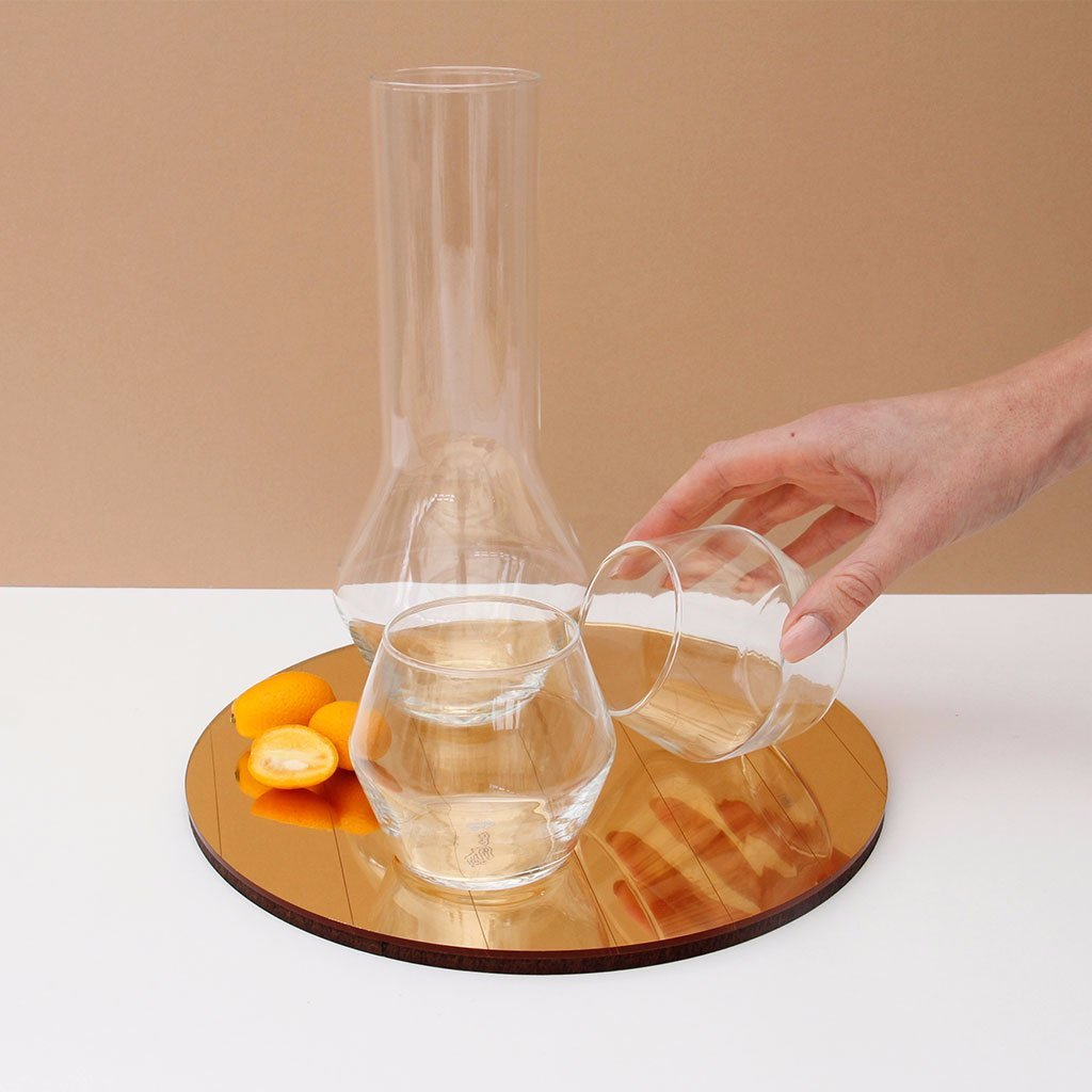 HEX Carafe and Wine Tumblers