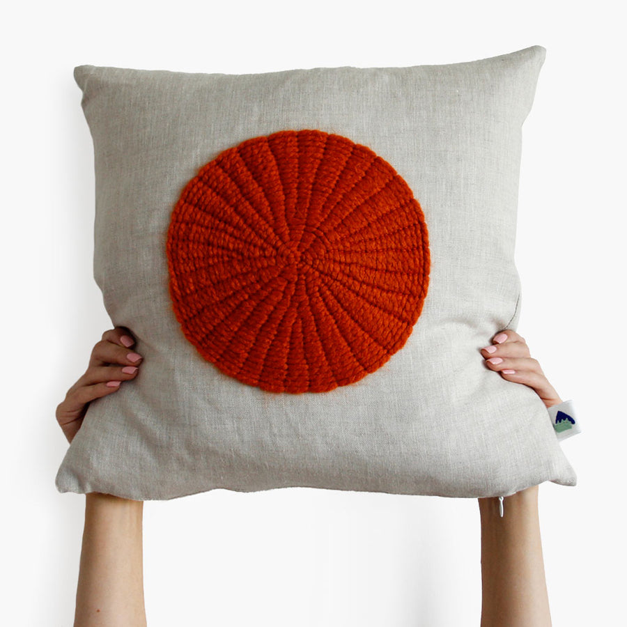 Orange Circle Cushion