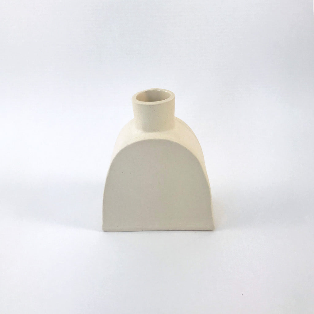 Ella Hookway - Cream Candle Holder with Candle Neck