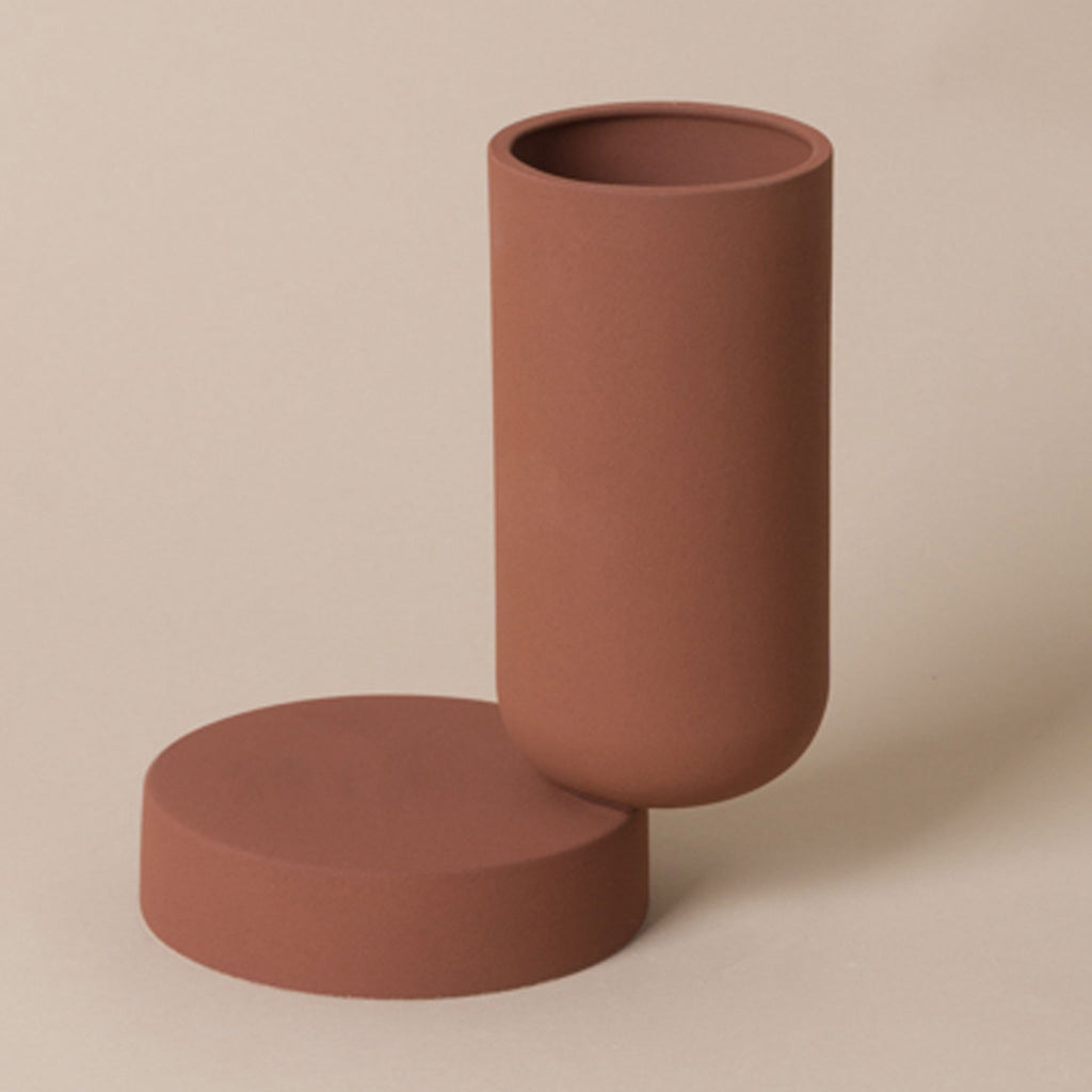 Los Objectos Decorativos - Duo Vase - Terracotta