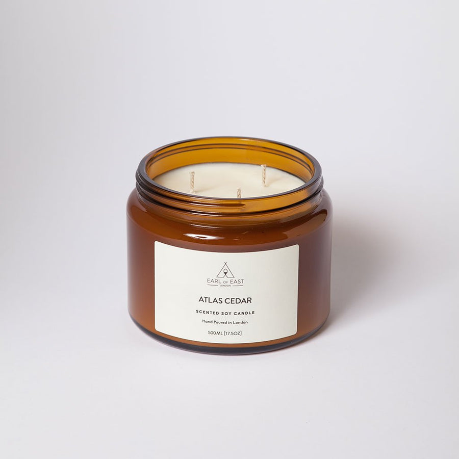 Atlas Cedar Large Candle