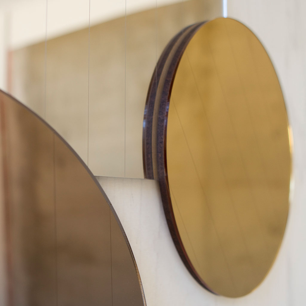 Layered Mirrors in metallic shades - shop gold circle mirror now
