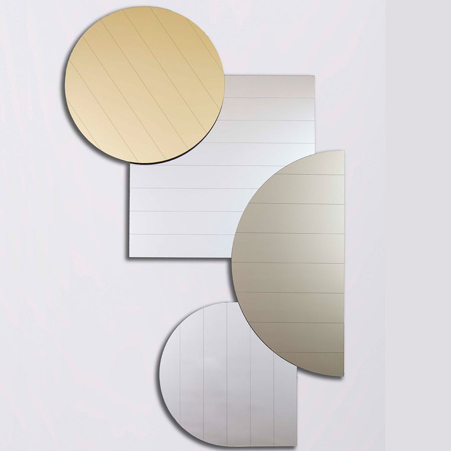 Layered Mirrors in metallic shades - shop now