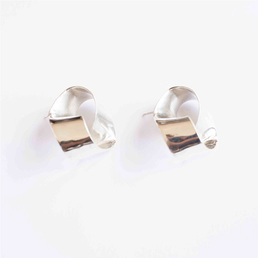 Roundabout Earrings In Silver - Shop Now