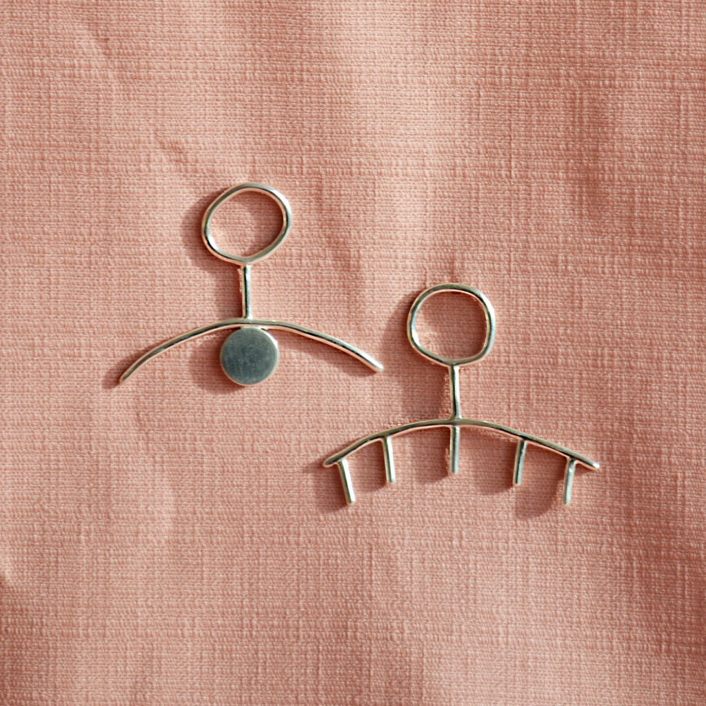 Karina Banks London - Hello You Earrings - Silver