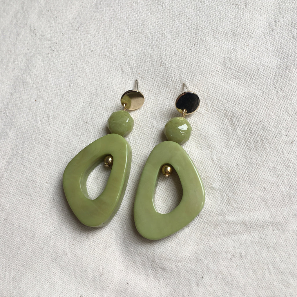 Project Bon - Palm Green Earrings