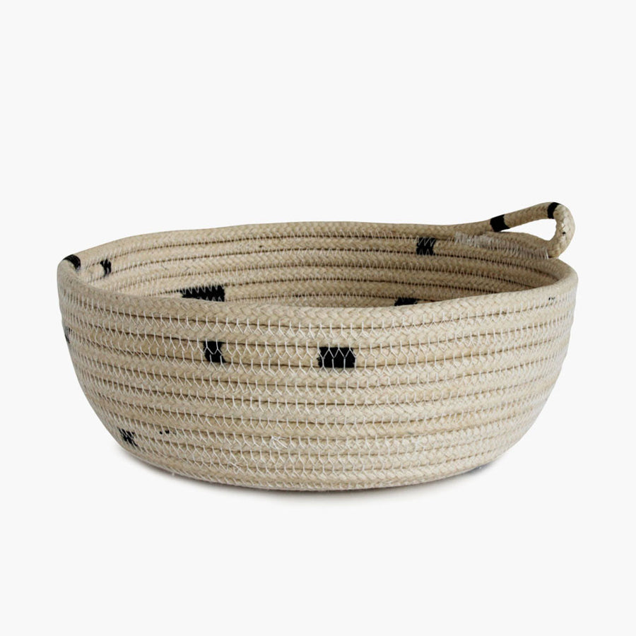 Shop Shallow Woven Navy Basket