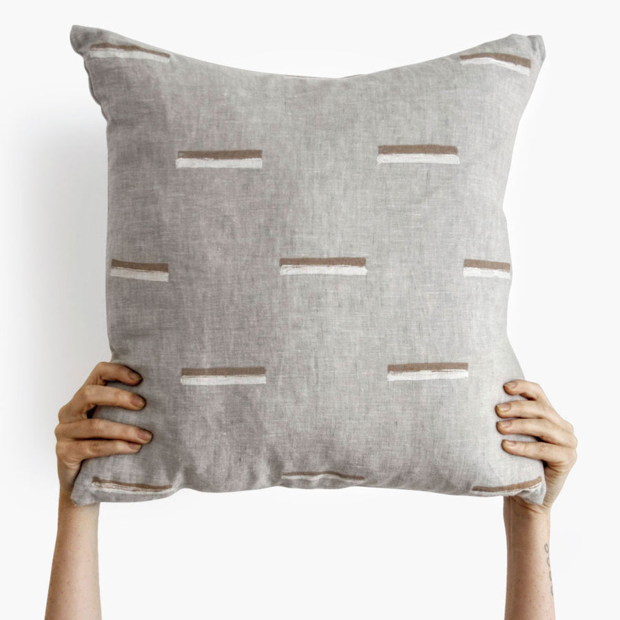 Shop grey printed linen cushion by Ren London