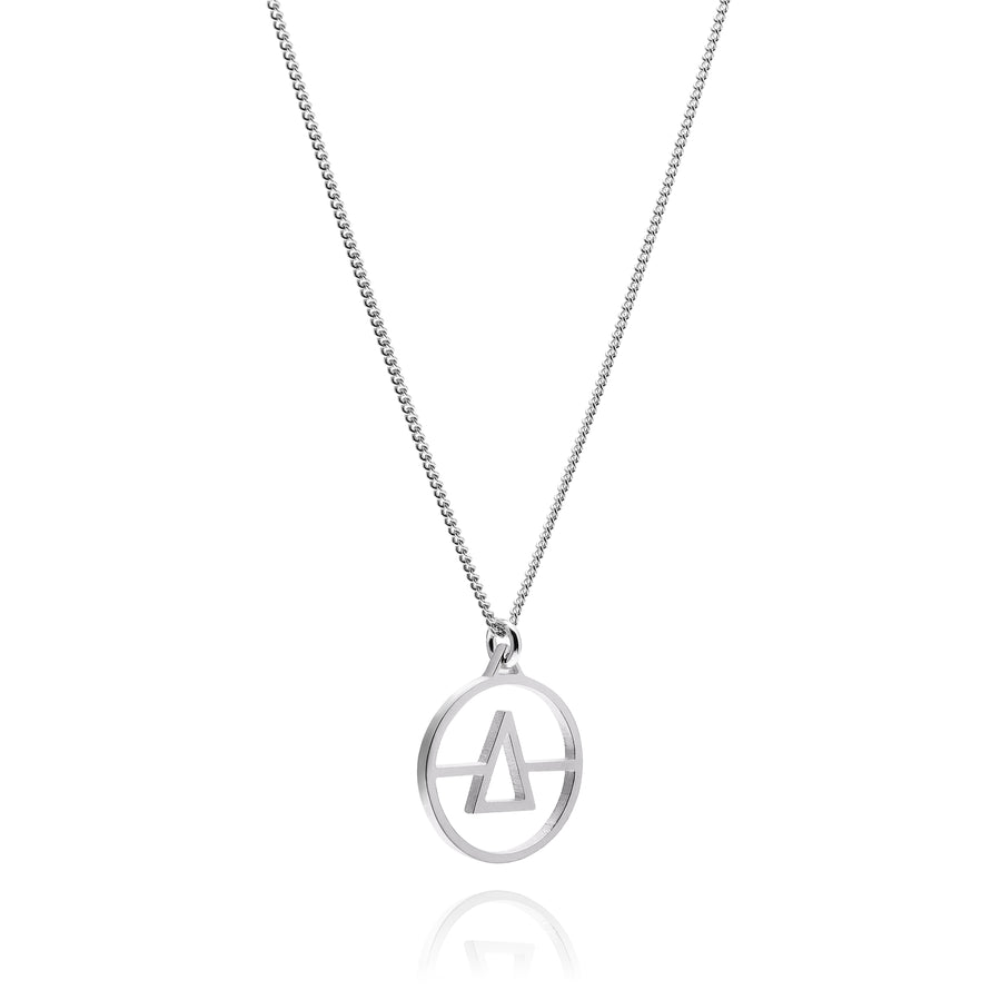 Mini Initial Necklace Silver