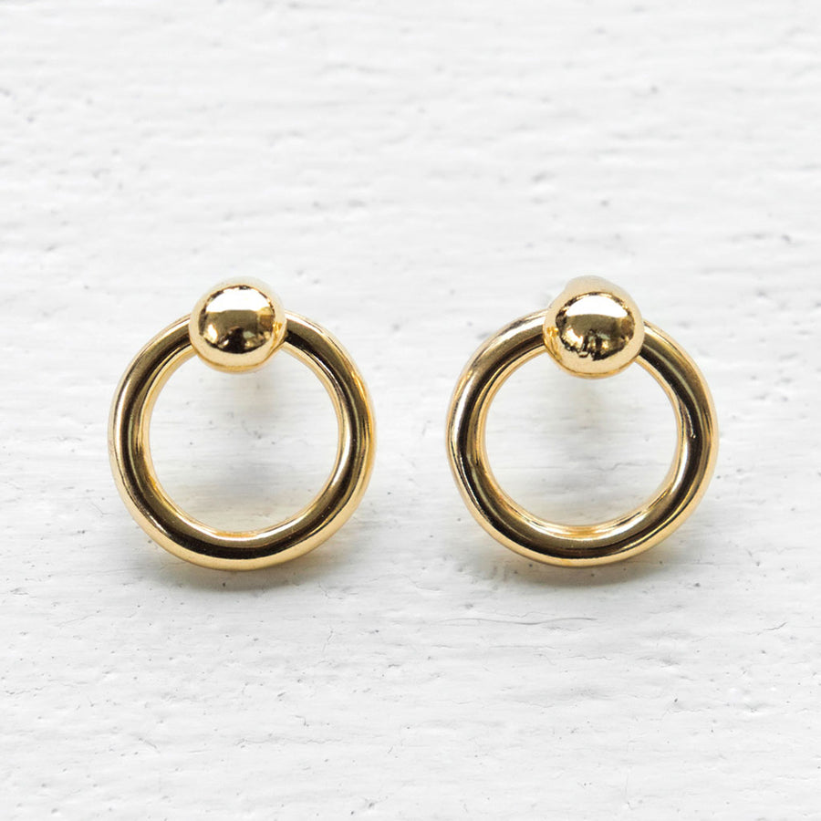 Common Muse - Odette Hoops - Yellow Gold